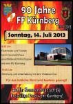 Plakat 90 Jahre Kürnberg, Sonntag, 14. Juli 2013