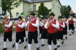Musikkapelle bei der Spatenstichfeier des dorfHAUSes