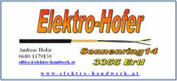 Logo Elektro Hofer