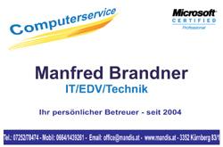Logo Manfred Brandner