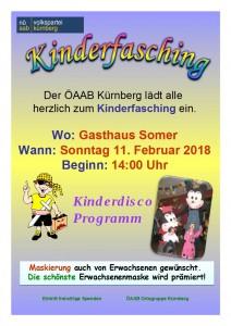 Kinderfasching Kürnberg  2018