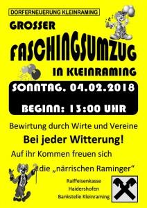 Faschingsumzug 2018 Plakat_1