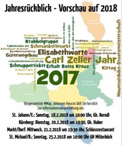 Jahresrückblick 2017 - Vorschau 2018