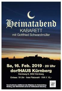 Plakat Heimatabend 2019