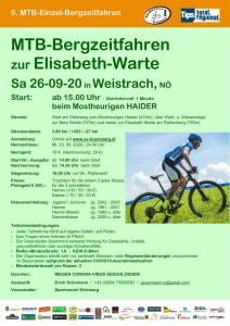 Plakat Bergzeitfahren 2020