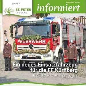Titelseite Infoblatt Gemeinde St. Peter/Au Ausgabe Oktober 2020